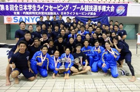男女とも総合優勝を果たした日本体育大学